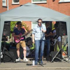 Great entertainment from the talented band Mr Hooper at the BIG LUNCH.