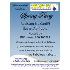 Trust PA Spinal Injury Spring Celebration - CANCELLED